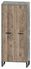 NABBI Bova W-2D dvojdverová šatníková skriňa pieskový dub / woodcon