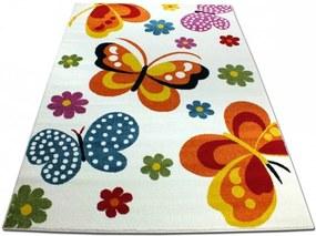 Detský koberec Motýle krémový, Velikosti 240x330cm
