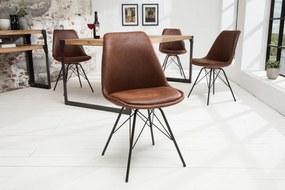 Bighome - Jedálenská stolička SCANIA RETRO - antická hnedá