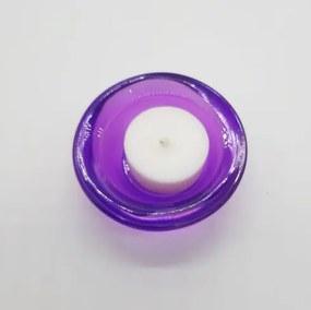 Čajové bezobalové sviečky variant: 1, IBA SVIETNIK, farba svietnika: fialová