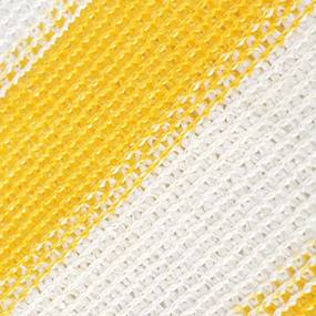 vidaXL Balkónová markíza z HDPE, 90x600 cm, bielo-žltá