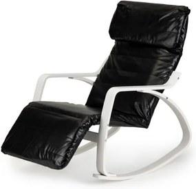 ModernHome Hojdacie kreslo čierna / biela, TXRC-04 WHITE / BLACK