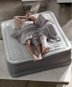 INTEX - nafukovacia posteľ 64486 PremAire QUEEN s integrovanou elektrickou pumpou