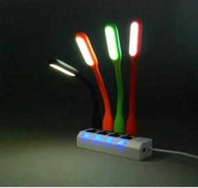 USB lampička s LED svetlom Žltá
