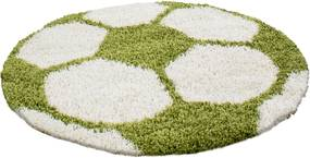 Ayyildiz koberce Kusový koberec Fun 6001 green - 120x120 (průměr) kruh cm