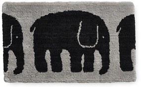 Kúpeľňová predložka Elefantti 50x80, sivo-čierna