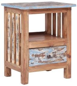 vidaXL Nočný stolík 41x30x50 cm recyklovaný masív