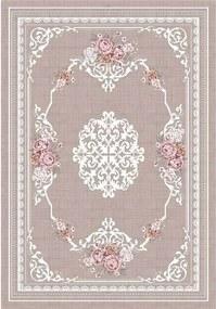 Tempo Kondela Koberec, svetlohnedý/vzor kvety, 120x180, SEDEF