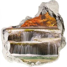 Nálepka fototapeta 3D Vodopád jeseň WallHole-75x75-piask-72393918