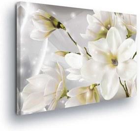 GLIX Obraz na plátne - Magic White Flowers 100x75 cm