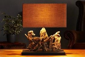 Stolná lampa z masivného dreva Aragon