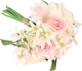 Dakls Umelá kytica Ruží s kvetmi bledavky