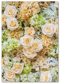 Foto obraz akryl do obývačky Svadobné kvety pl-oa-70x100-f-109290145