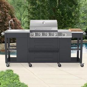 Veľká záhradná kuchyňa - plynový gril - TEXAS