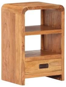 vidaXL Nočný stolík 40x30x60cm masívne akáciové a sheeshamové drevo