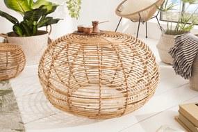 Štýlový bambusový stolík Bamboo Lounge 70 cm
