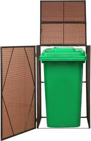 Kryt na kôš na odpadky - hnedý