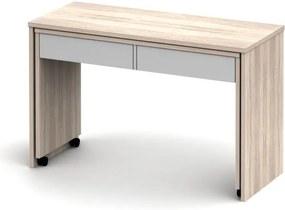 Písací stôl rozkladací Versal NEW sonoma / biela Tempo Kondela