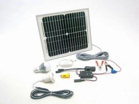 SOLAR Solárny monokryštalický systém SO134 10W 12V s USB výstupom a LED osvetlením
