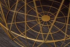 Bighome - Príručný stolík STORGE 2set - zlatá