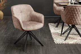 Dizajnová stolička Natasha béžovosivý zamat