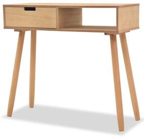 vidaXL Hnedý prístavný stolík z borovicového dreva, 80x30x72 cm