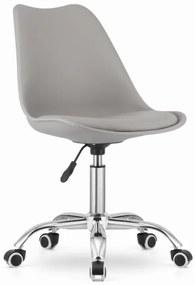 Otočná stolička ALBA - šedá