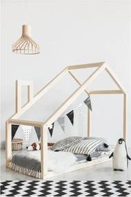 Domčeková posteľ z borovicového dreva Adeko Mila DM, 90 x 180 cm