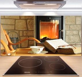 Sklenený panel do kuchyne Krb pl-pksh-140x70-f-44446655