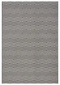 Čierny koberec vhodný aj do exteriéru Bougari Karo, 140 × 200 cm