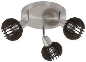 Briloner Briloner 2852-034R - Bodové svietidlo RETRO 3xE14/5,5W/230V BL0666