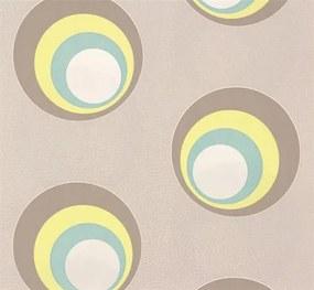Vliesové tapety, bubliny žlto-hnedé, NENA 57232, MARBURG, rozmer 10,05 m x 0,53 m