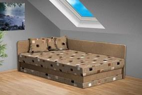 Nabytekmorava Čalúnená posteľ Robin 120x200 cm farba čalounění: béžová