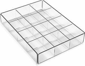 Čierny úložný box s 12 priehradkami Versa Ariel