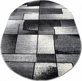 Kusový koberec Toma sivý ovál, Velikosti 60x100cm