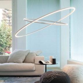 Nemo Ellisse Double závesná lampa 2700K hliník