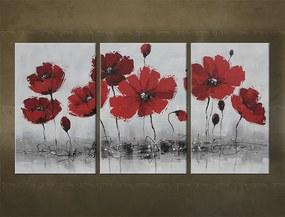 Ručne maľovaný obraz na stenu KVETY FB071E3