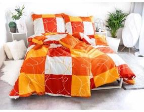 Krepové obliečky Exclusive – Domino oranžová