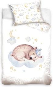 HOD Detské bavlnené obliečky BEAR 100x135cm