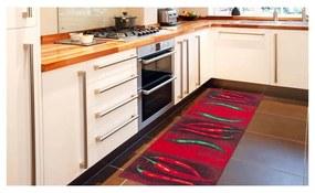 Vysokoodolný kuchynský koberec Peperoncini, 60x220cm