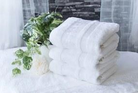 XPOSE ® Bambusový ručník CATANIA - bílá 50x90 cm