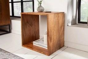 IIG -  Ručne vyrobený stolík MAKASSAR 43 cm mangová drevená polica