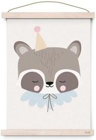 EEF lillemor Plagát do detskej izbičky Circus Raccoon A3