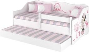 DO Detská posteľ Lulu Minnie s prístelkou - 160x80 cm