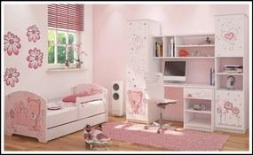 Ružový macík detské izby pre dievčatá
