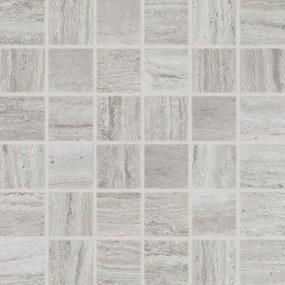 Mozaika Rako Alba šedá 30x30 cm, protišmyk, rektifikovaná DDM06733.1