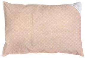 Eva Kiedroňová Obliečka na vankúš béžová s bodkami - 60x40 cm, 100% bavlna, 60x40cm, Béžová