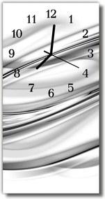 Nástenné hodiny vertikálne  Abstraktivní grafické čiary sú biele