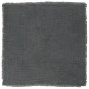 IB LAURSEN Bavlnený obrúsok Double Weaving Dark Grey