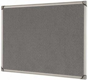 Bi-Office Textilná tabuľa, sivá, 1800 x 1200 mm